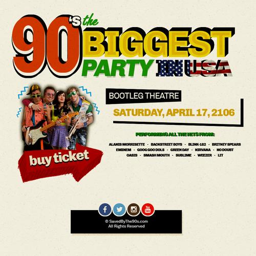 Website design for a retro 90's band