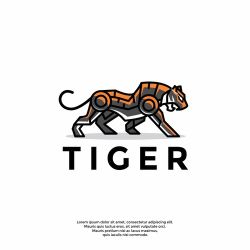 cool tiger logo