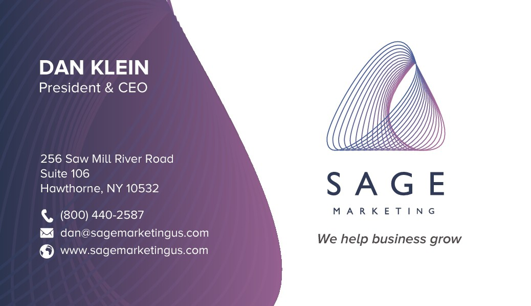 Sage Marketing Business Card Design