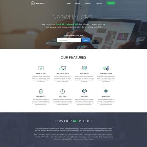 Narwhal Landing Page