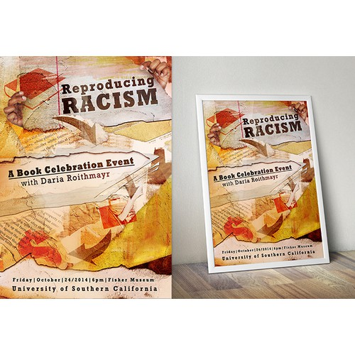Creating art for an invitation to celebrate Reproducing Racism, a new book on racial inequality by USC law school profes