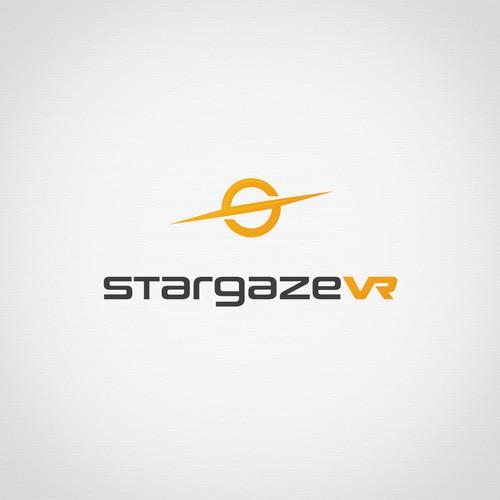 Futuristic logo for a virtual reality company