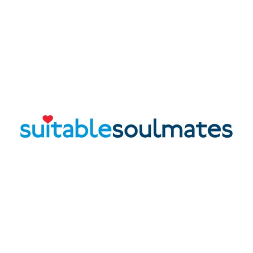Simplistic text logo for dating website