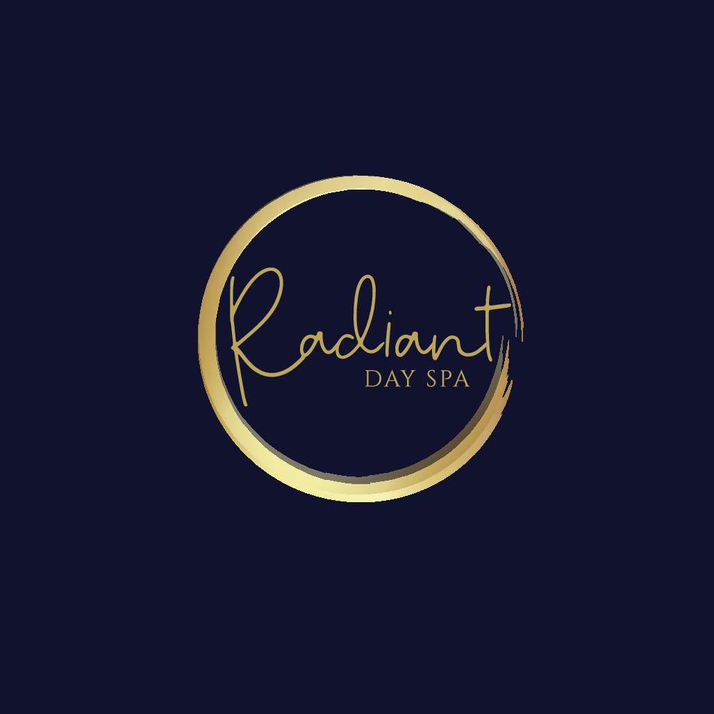 Radiant day spa needs a modern wordmark that glows.
