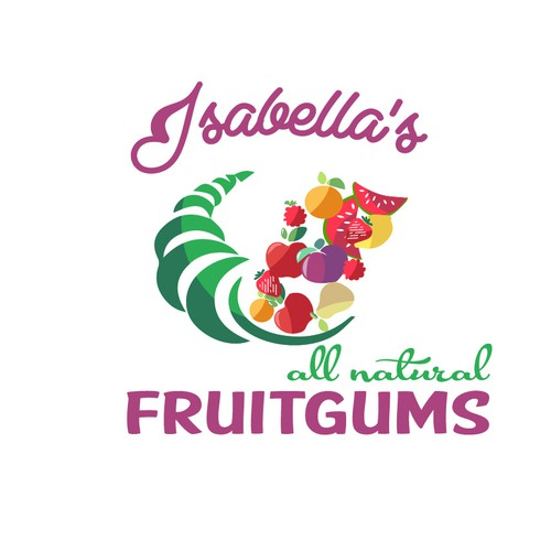 Logo for fruits gums