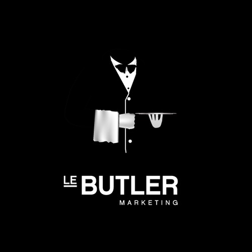 unique logo design for le butler marketing
