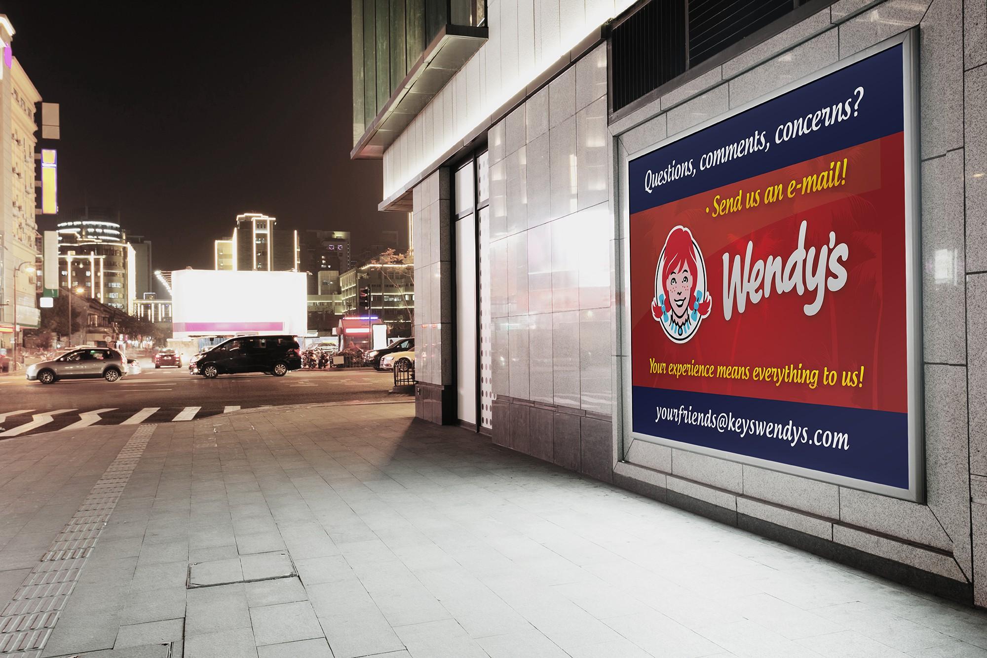 Wendy's Customer Feedback Signs