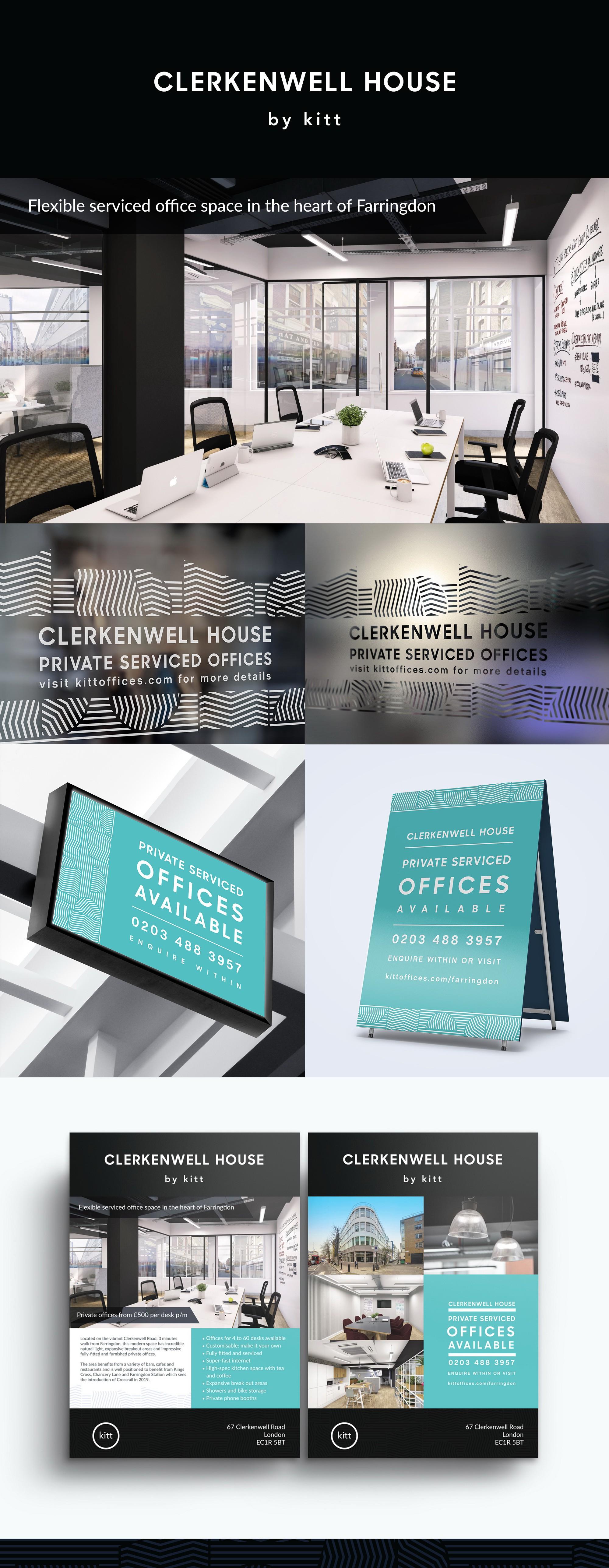Window vinyl advertising serviced office space