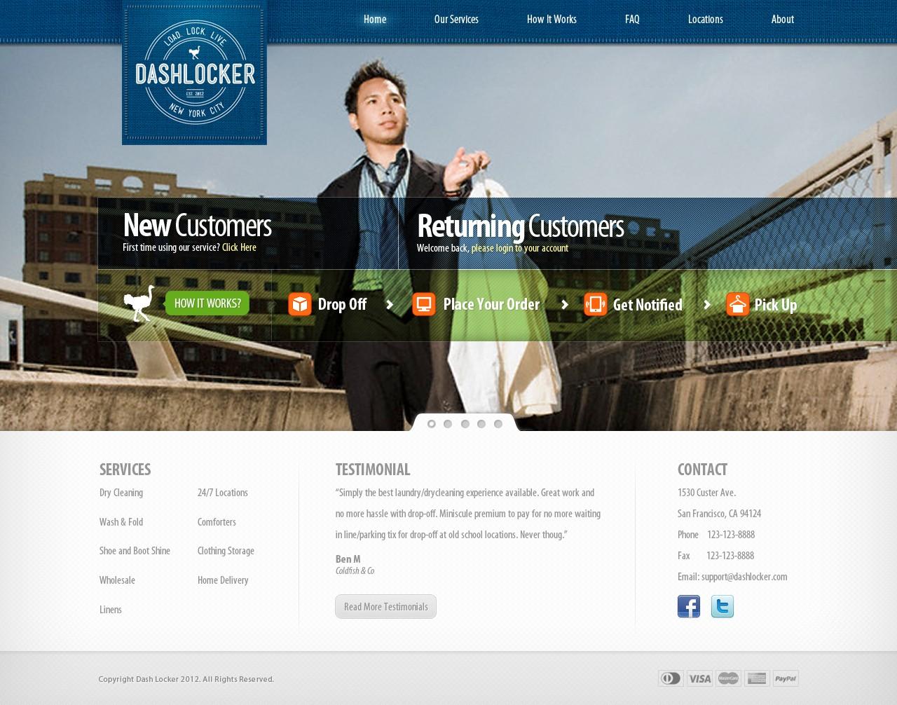 Help DashLocker with a new website design