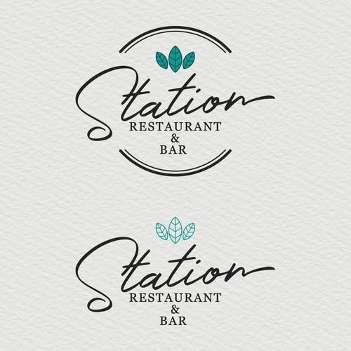 Station Restaurant & Bar Logo Design