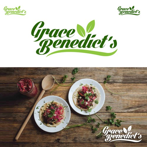 logo design study for grace benedict's specialty foods