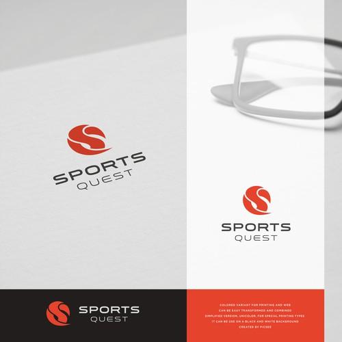 modern minimalist concept. letter combination S+Q