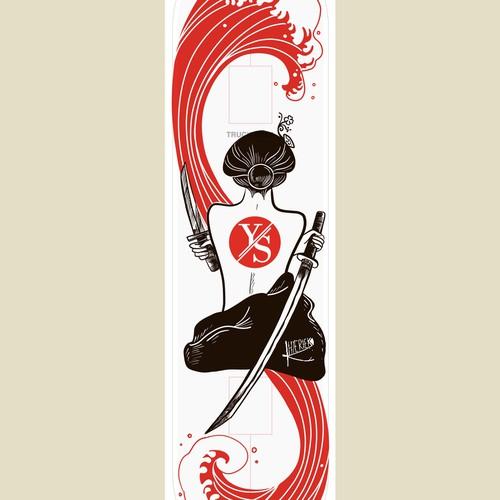 Illustration for skateboards