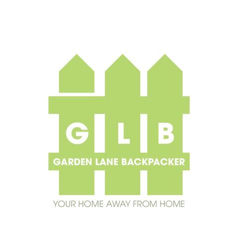 Logo design for a Hostel named garden lan backpacker