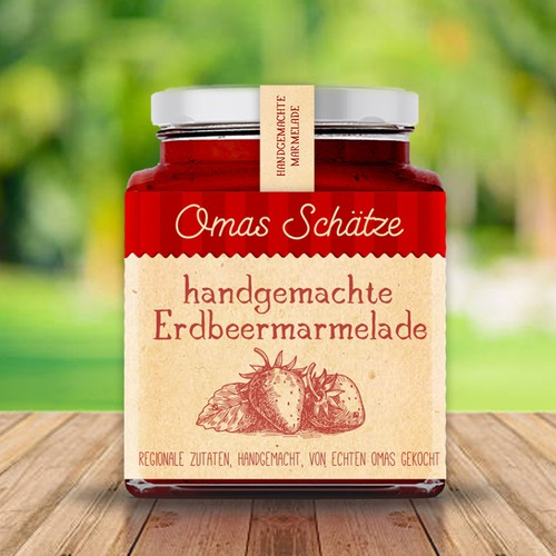 Handcrafted strawberry jam