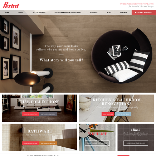 Design a new website for Perini