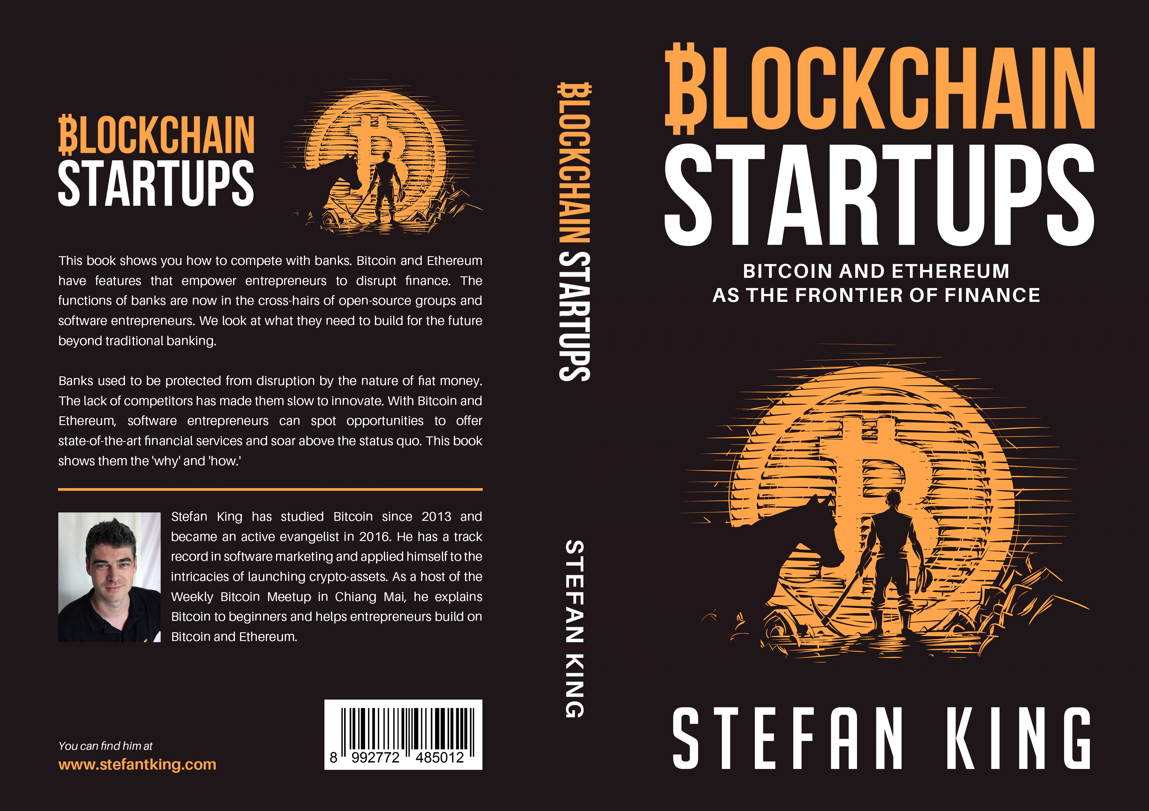 Book cover with bitcoins and a 'Wild West' theme
