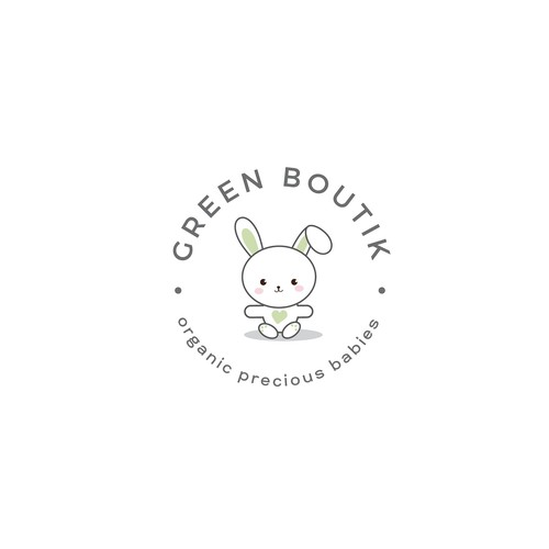 Cute yet simple and professional logo for the organic kids store