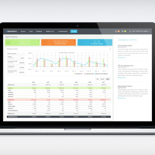 Create an app for investors to view company data