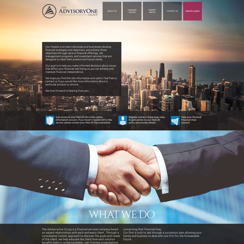 Adisors Company site WebDesign