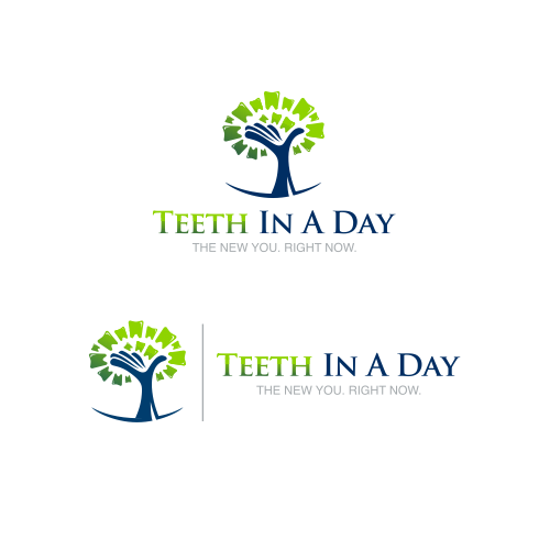 "Create a capturing logo design for ""Teeth In A Day"" dental campaign."