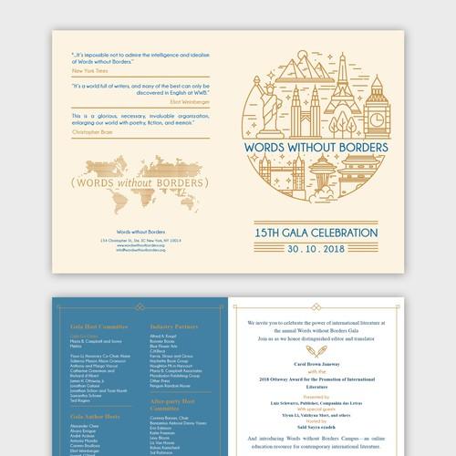 A Gala Invitation for An International Literary org