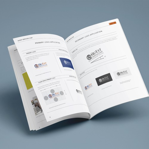 Brand guide for services company