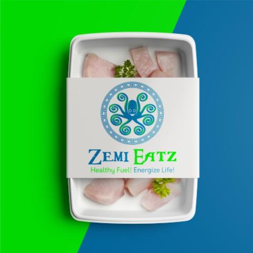 Logo for packaged dinner ZemiEats