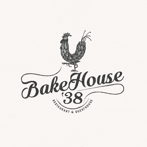 Rustic logo for woodfired bakehouse