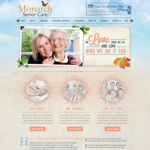 website design for Monarch Senior Care