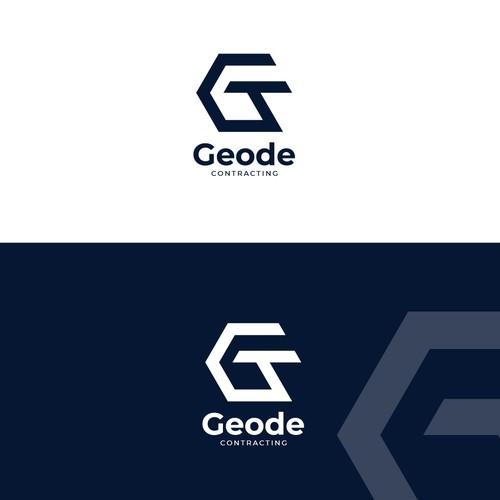 Geode Contracting logo design
