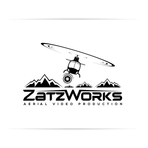 Logo for Alaskan aerial video production company