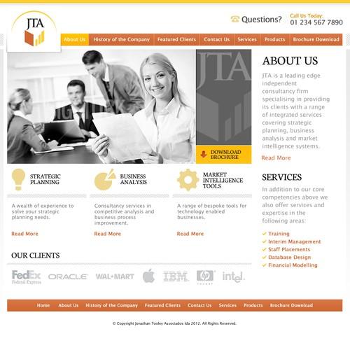 Jonathan Tooley Associados lda needs a new website design