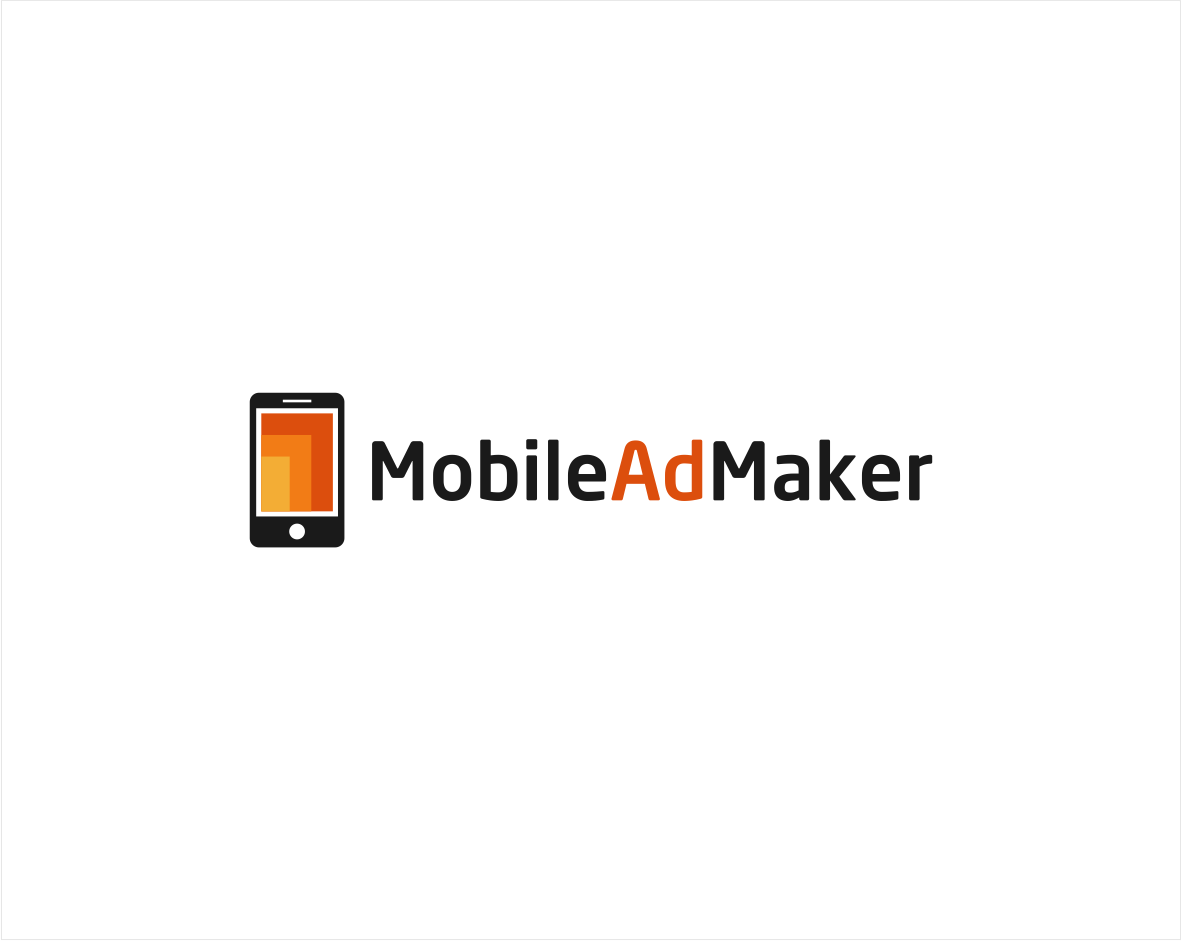 Create a logo that portrays resizing images for mobile advertisers in an interesting way