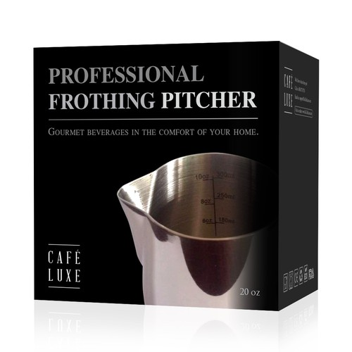 Packaging for a frothing pitcher