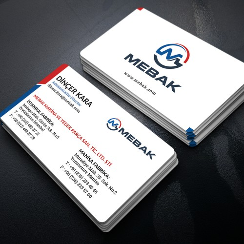 Clean business card concept for MEBAK