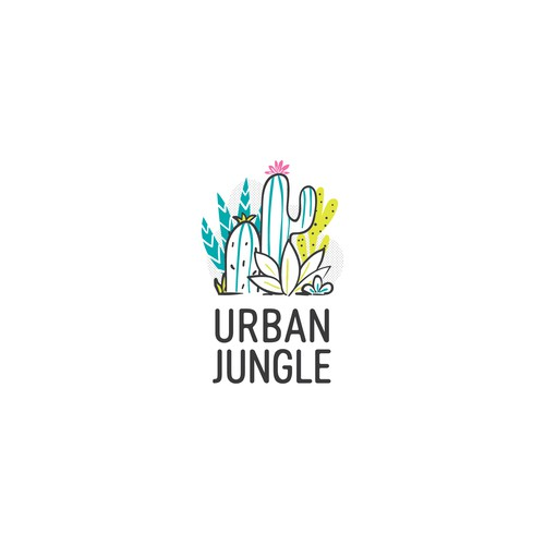 Logo for succulent plants shop