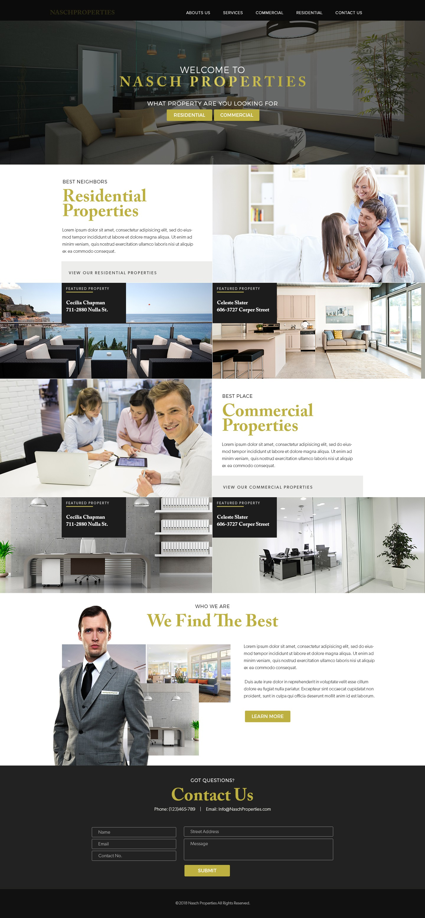 Residential & Commercial Property Management (NOT just a typical Real Estate listing site)