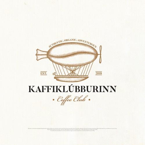 Logo design concept for a coffee club.