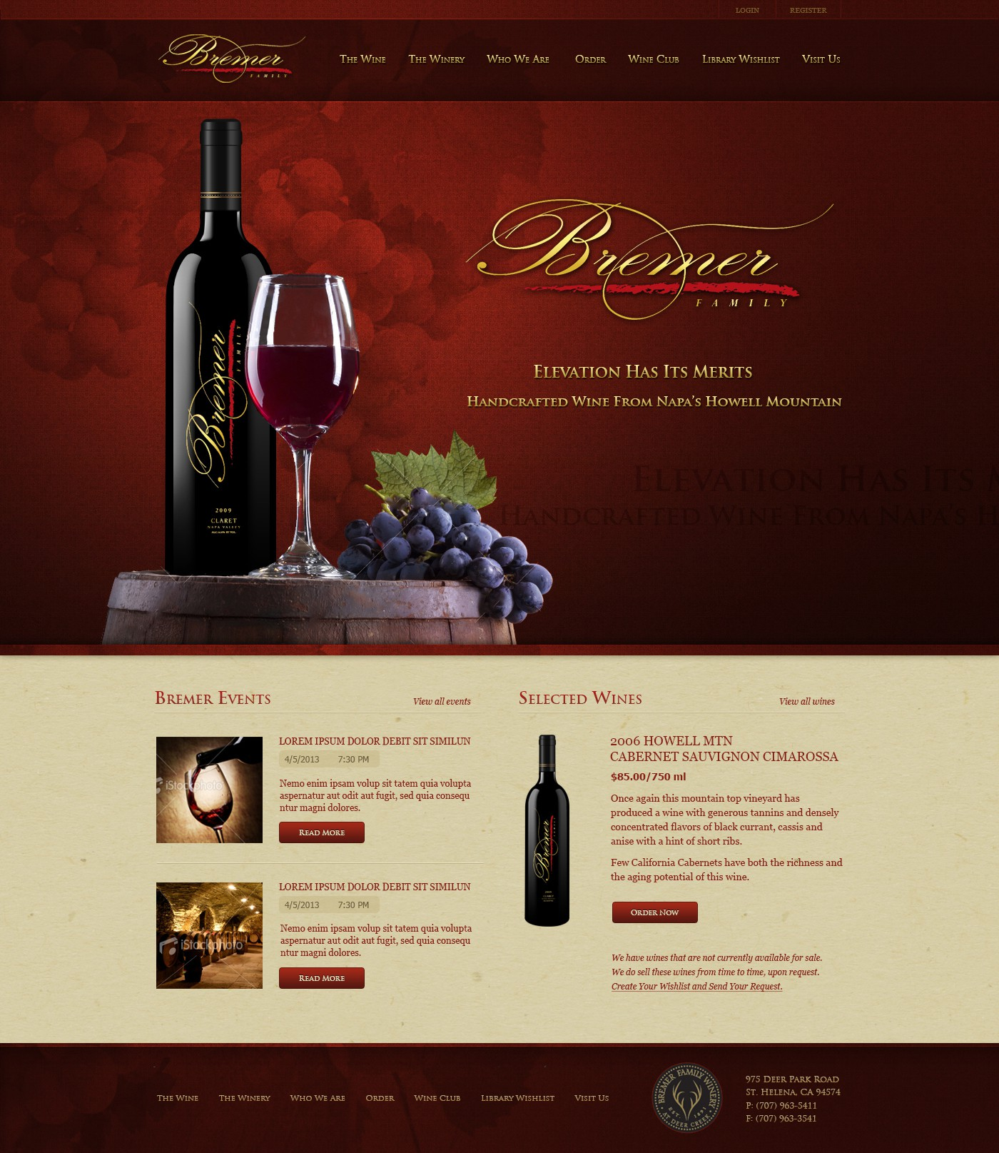 Class and Sophistication - Reimagine the Existing Website for a Top-Notch Winery in Napa Valley