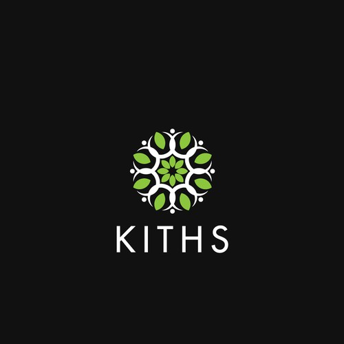 Geometric and organic logo concept for KITHS