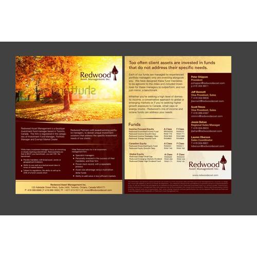 Create the next brochure design for Redwood Asset Management