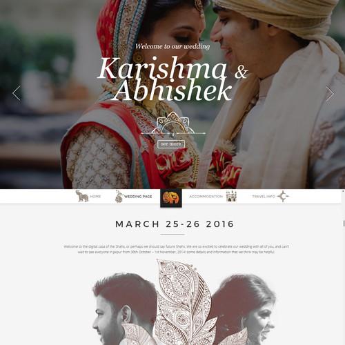 Kasishma e Abhishek Wedding Website