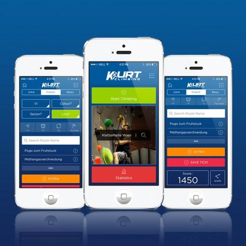 Design a mobile app for sport climbing!