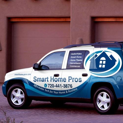 Smart Home Pros SUV wrap