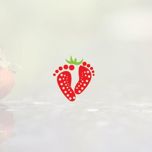 unique and elegant logo for I go Strawberries