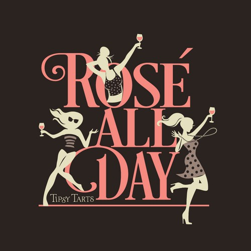 rose' all day t-shirt design