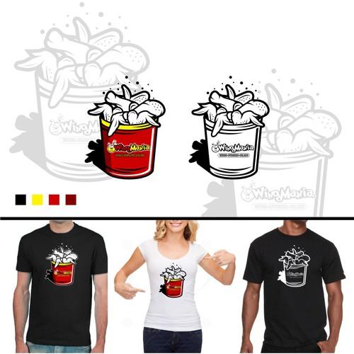 chicken bucket illustration for WingMania