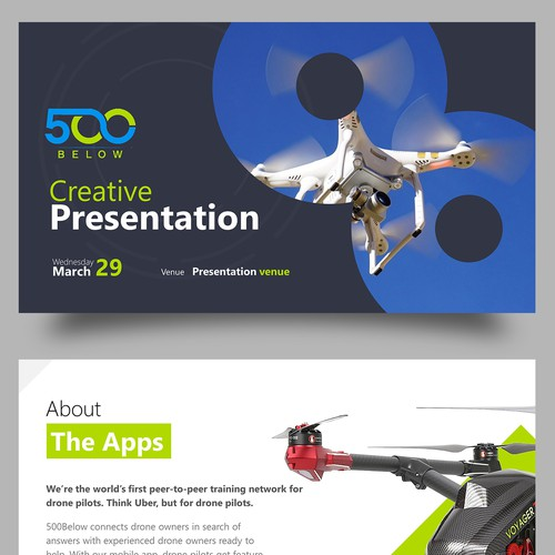 Streamlined Pitch Deck for our Drone App