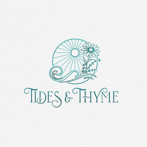 logo for an eclectic antiques/plant store in a historic coastal downtown